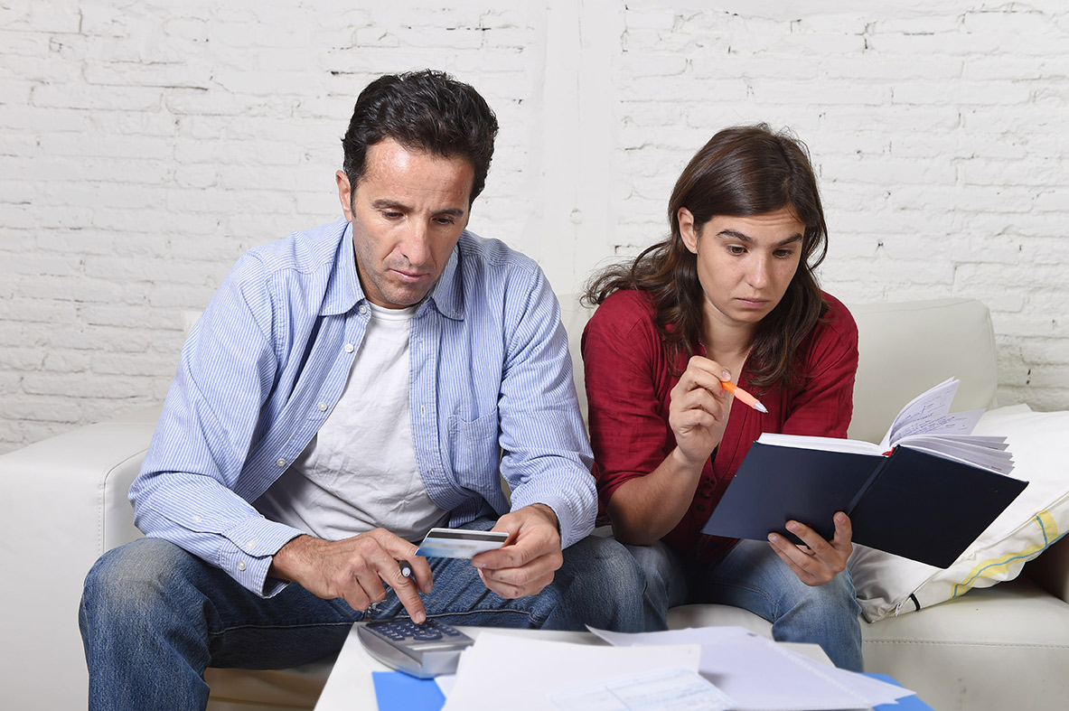 Couple concerned about money
