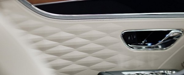 2020 Bentley Flying Spur Interior Teased, Shows 3D Leather