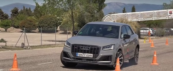 Audi SQ2 Takes Moose Test, Shows Understeer and Wobble