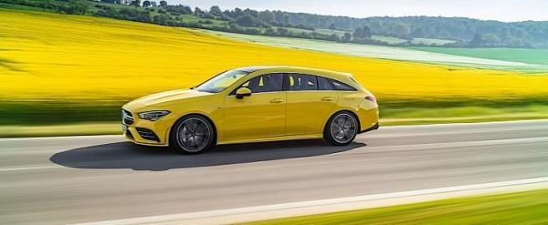 2020 Mercedes-AMG CLA 35 Shooting Brake Revealed in Eye-Popping Yellow