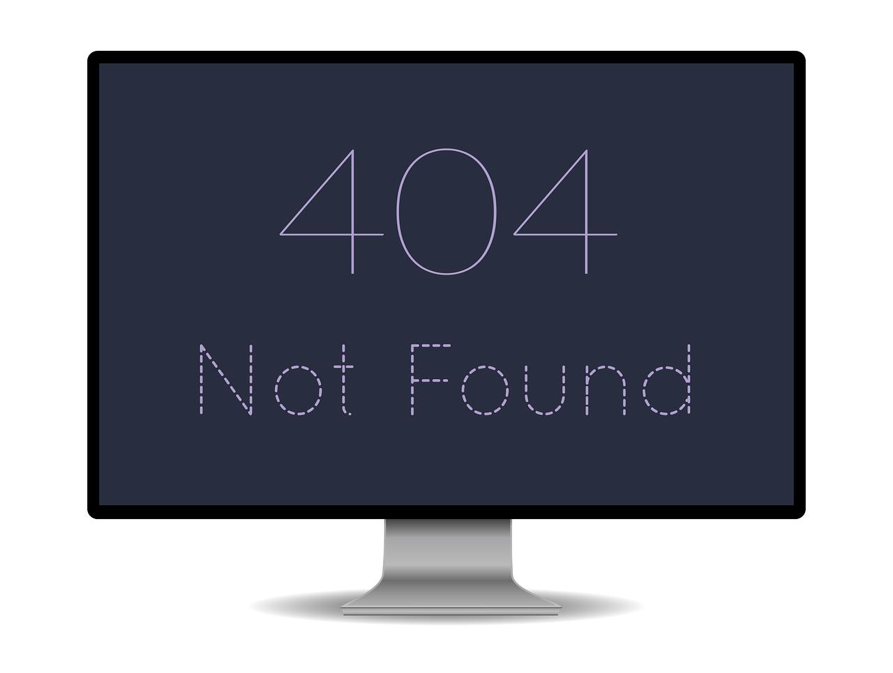 404 felermeldung