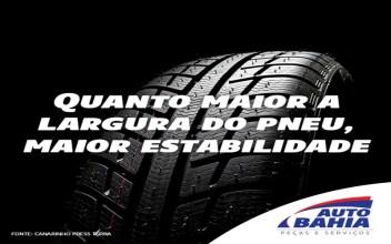 Quanto maior o pneu, Maior a estabilidade