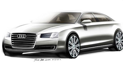 IAA 2013: Audi A8 Facelift mit neuer Matrix Lichttechnik. Grafik: Audi