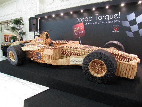 Asia Largest race car made from bread