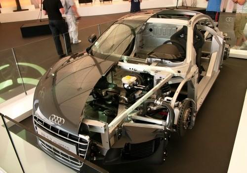 Audi R8 V10 Cut in Half