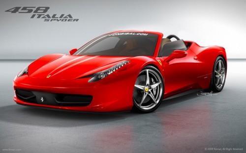 Ferrari 458 Spider Rendering