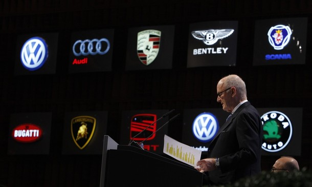 Volkswagen AG's chairman Piech speaks during annual shareholders meeting of Volkswagen AG in Hamburg