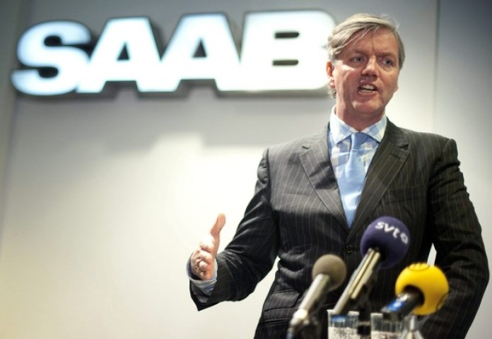 Swedish Automobile Chief Executive Victor Muller speaks to media during a news conference in Trollhattan