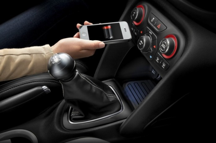 Chrysler wireless recharging system