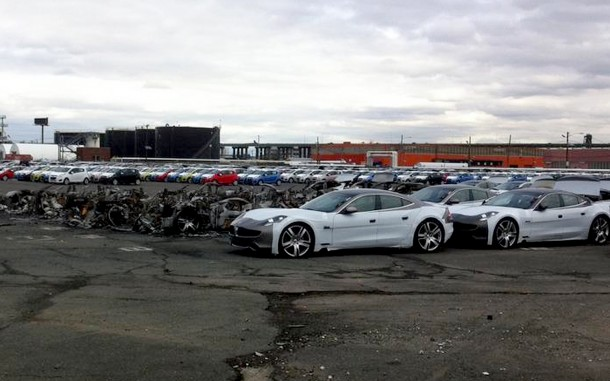 Fisker Karmas burned at New Jersey port