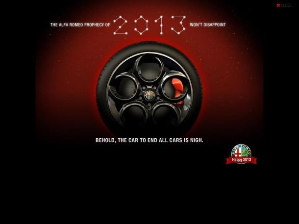 Alfa Romeo 4C teaser