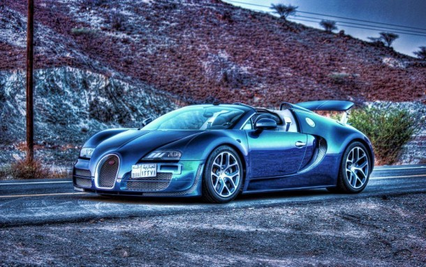 Bugatti Veyron Grand Sport Vitesse in the Hatta Mountains Dubai (2)
