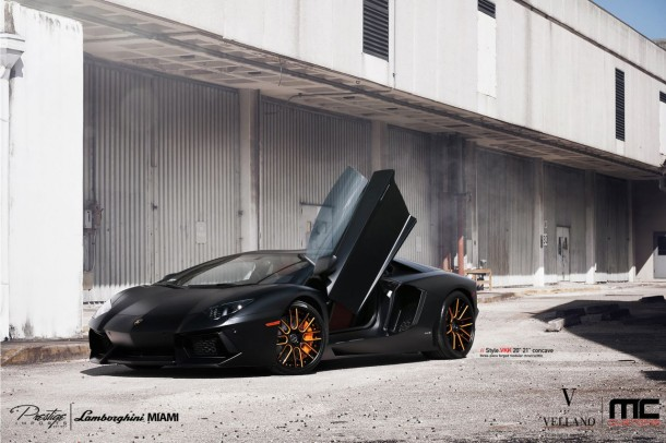 Lamborghini Aventador with Vellano VKK Wheels (9)