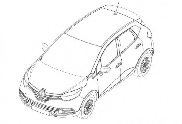Renault Captur 2013 design sketches (1)