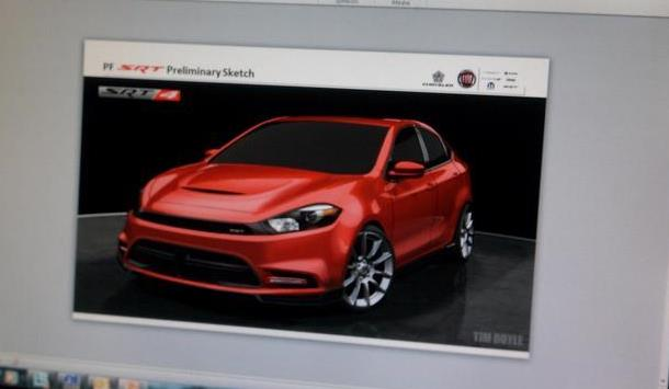 Dodge Dart SRT4 2014 sketch
