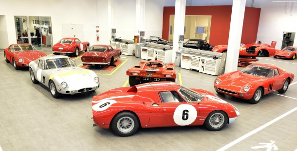 Five of the original 36 Ferrari 250 GTOs