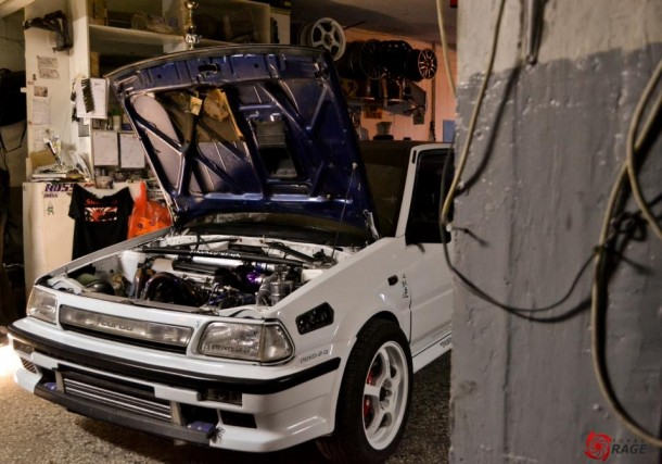 Greek Toyota Starlet turbo EP71 AWD with 427 whp