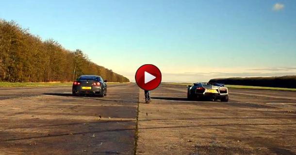Lamborghini Reventon Roadster Vs Ducati Vs Nissan GT-R