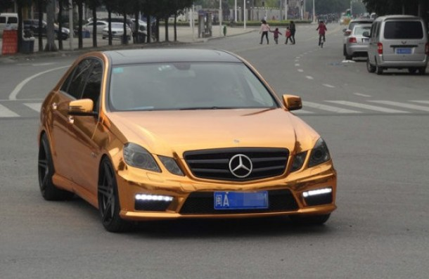 Mercedes-Benz E63 AMG is Gold in China (1)