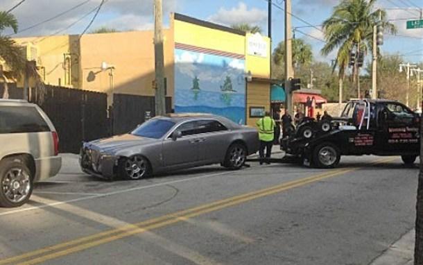 Rick Ross Rolls-Royce Crash