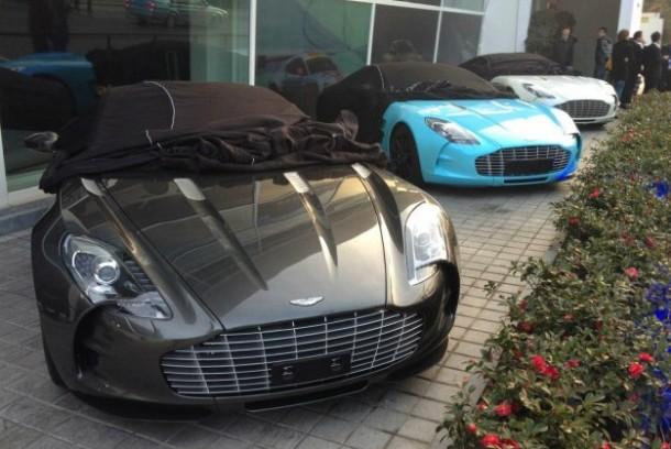 Three Aston Martin One-77 in China (1)