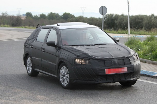 Volkswagen new model for China and India Spy Photos