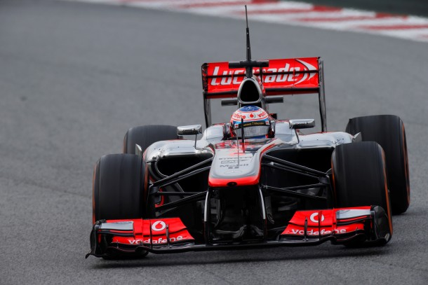Jenson Button at Circuit de Catalunya