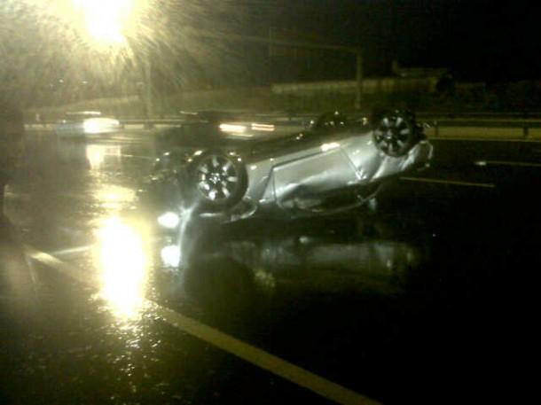 Nissan GT-R Crashed (2)