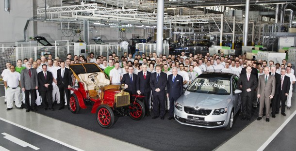 Skoda 15-millionth automobile celebration