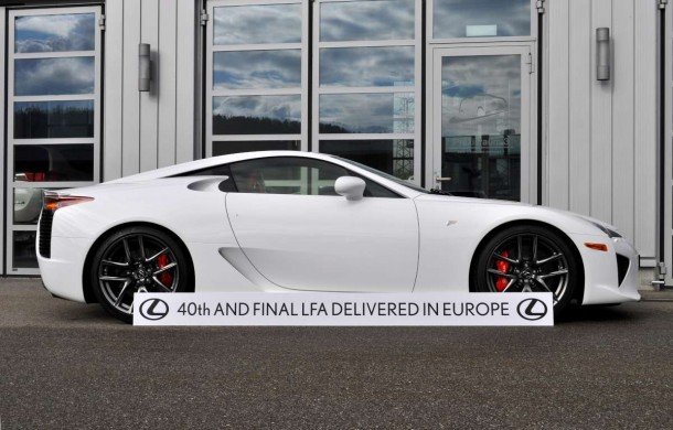 Final Lexus LFA Delivery In Europe