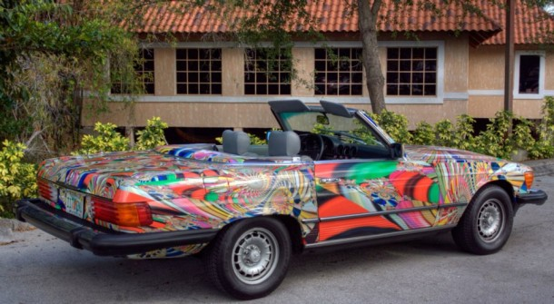Mercedes-Benz 380 SL Psychedelic Drive 1982 by Laurence Gartel (3)