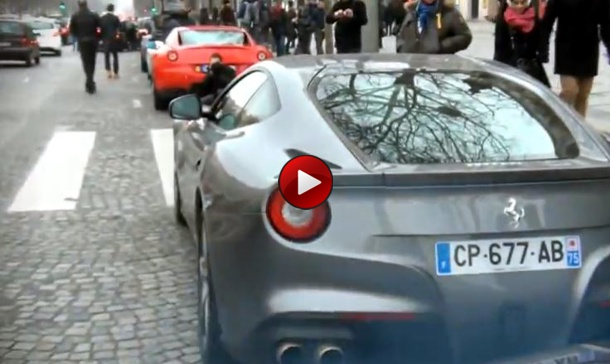 sound video Paris Supercar Run and Rev Wars