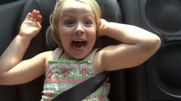 5 year old girl launches 2013 Nissan GTR