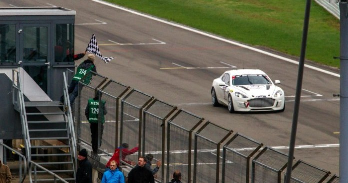 Aston Martin Hybrid Hydrogen Rapide S in action at Nurburgring (1)
