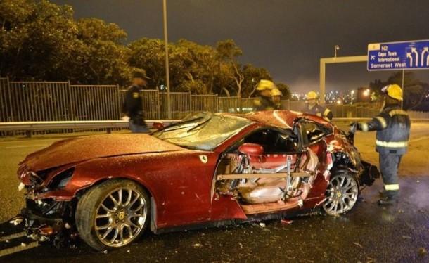 Ferrari 612 Scaglietti Ignites in Cape Town (2)