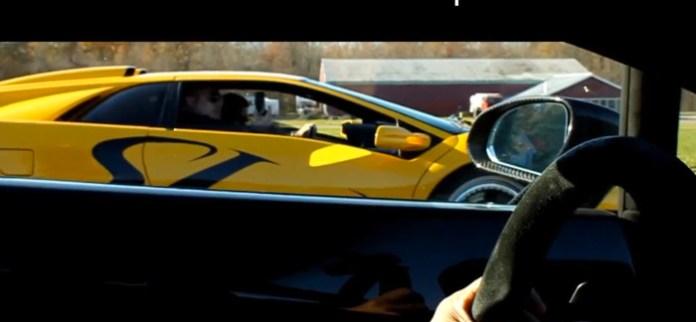 Lamborghini Gallardo SuperLeggera Drag Race Against Lamborghini Diablo Super Veloce