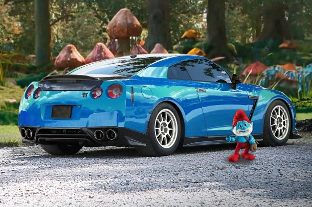 Switzer Performance 2000 HP Big Papa Smurf Nissan GT-R