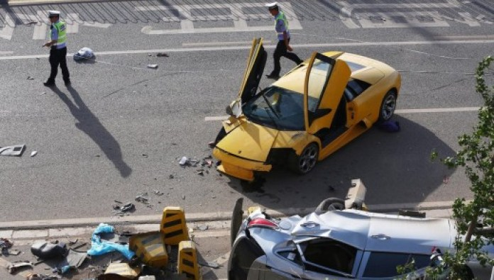 Lamborghini Murcièlago causes a victim in China