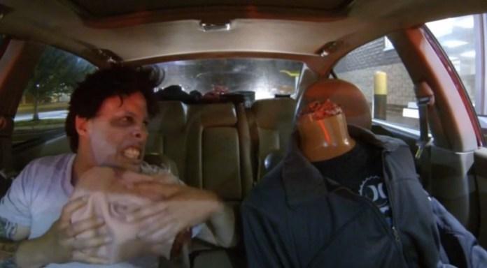 Drive Thru Zombie Headless Prank