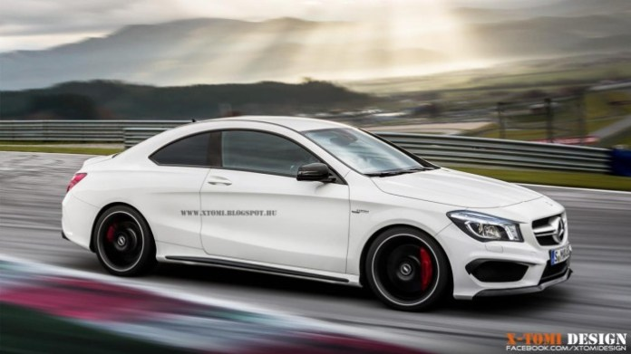 Mercedes CLA45 AMG Coupe renderings