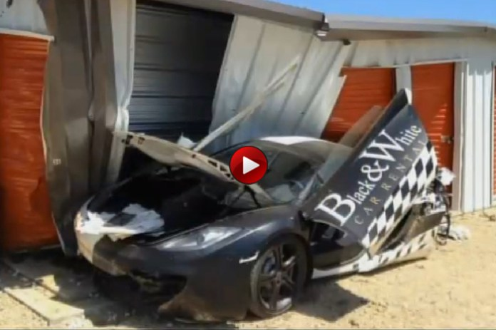 Crashed McLaren MP4-12C Spider