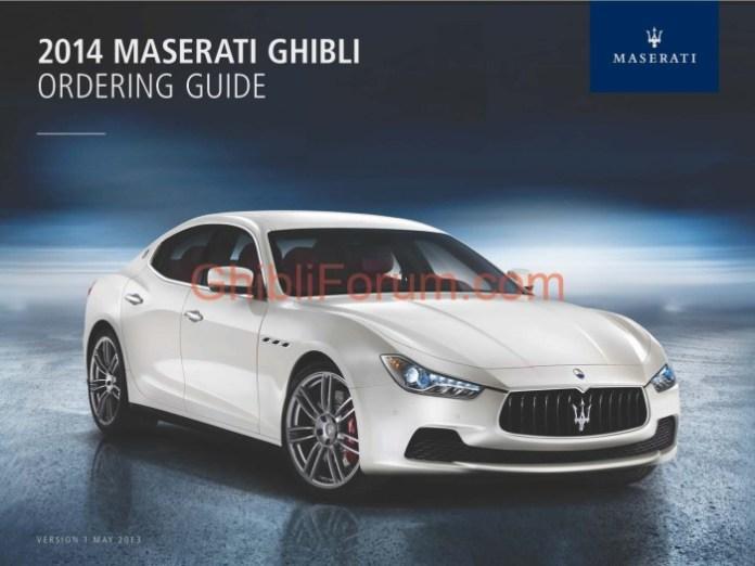 Maserati Ghibli 2014 order guide (1)