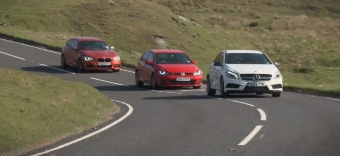 Video Mercedes A45 AMG Vs Golf GTI Vs BMW M135i