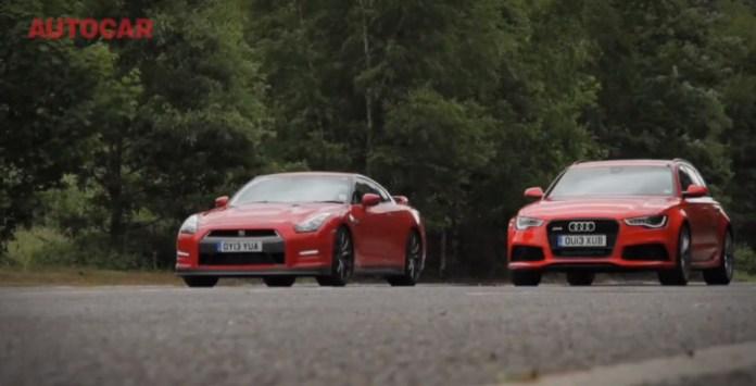 Nissan GT-R vs Audi RS6 Avant shootout