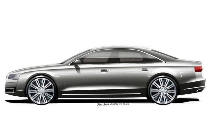 2014 Audi A8 facelift official design sketch