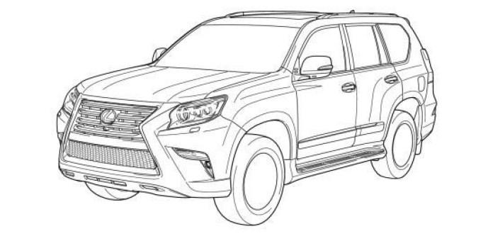 2014 Lexus GX sketch (1)
