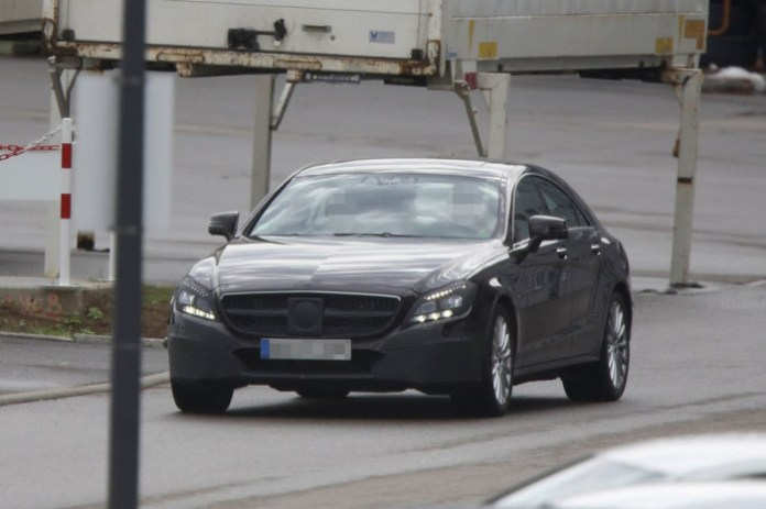 Spy Photos Mercedes-Benz CLS facelift 2015 (1)