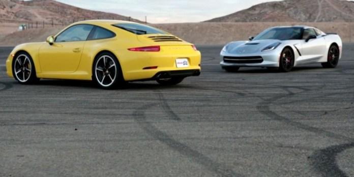 2014 Chevy Corvette Stingray vs 2013 Porsche 911