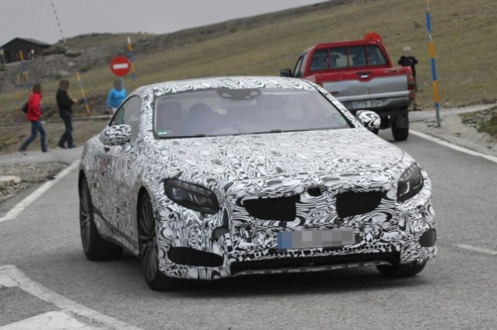 Mercedes-Benz S63 AMG Coupe 2014 Spy Photos (1)