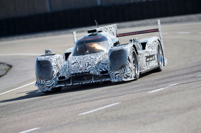 New Porsche LMP1 race car begins testing (1)